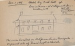 Sketch by Fred Ball of Rece's Tavern, stagecoach stop at Milton, W.Va., 1850's