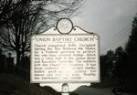 Union Baptist Church historical marker Milton, W.Va.
