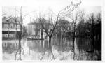 1937 flood, Mr. & Mrs Chas Gohen leaving their home, Huntington, W.Va.