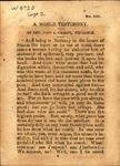 Noble Testimony by John Sharshall Grasty