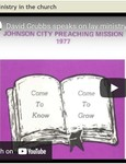 Lay Ministry in the Church by James David Grubbs