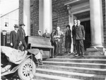 Moving piano into new Beckley Presbyterian Church, 1925