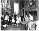 Luci Johnson giving tour of White House, Washington, June 9, 1964