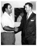John Tanner (r) and Rocky Marciano, Beckley, WVa., ca.1956