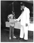 WVa Senator Tracy Hylton congratulating Leslie Haga, Jr., ca. 1970