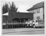 Beckley Fire Dept, Shift #2, at Third Ave Station, ca. 1970?