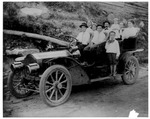 Dudley family in Packard Automobile, ca. 1911, 1st auto in WVa?