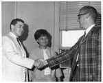 VISTA workers David & Janice Bandy meet Jack Harley, Beckley,WVa, ca.1960's