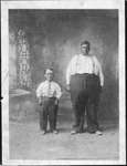 """Mr. Big and Little,"" circus people, ca. early 1900's"