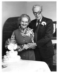 Mr. & Mrs. Harlow Warren on 60th anniversary, ca. 1975