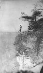 Wayman Redden posing at Grand View, Raleigh County, WVa, ca. 1920's