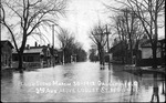 Flood scene, Gallipolis, Oh., 3rd Ave above Locust St, Mar. 30, 1913