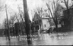 Flood scene, Gallipolis, Oh., 2nd Ave E of Locust St., Mar. 30, 1913