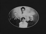 Helen Alexander, her sister Lettie and their grandparents Lasley, 1904