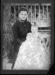 Mrs. Carrie Winkers Hines and son Brainard, ca. 1900