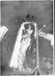 Carrie Winkers Hines in her casket, ca. 1903
