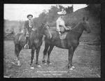 Marshall football Coach Cam Henderson and Sister Nora on Horseback