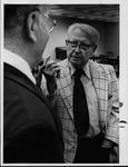 Howard B. Lee (right) and Dr. Ken Slack of Marshall, 1977