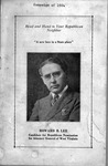 Howard B. Lee on cover of campaign literature for WV Attorney General, 1924