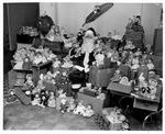 Mike Lewis as Santa, Dec. 16, 1952