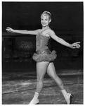 Ice skater Barbara Garrison, at Memorial Field House, Oct 20, 1959