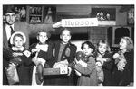 Hudson family at Rotary Xmas Party, Memorial Field House, Dec., 1955