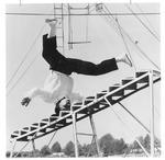 Balancing act for the circus at Memorial Field House, Huntington,WVa, Feb.,1959