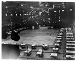 Preparing for dance, Memorial Field House, Huntington,WVa,ca. 1950's