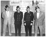 Officials of the Fireman's Ball, Memorial Field House, Huntington,WVa, ca.1954