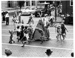 Indian group, Huntington Parks & Recreation parade, Huntington,WVa, Aug. 1951