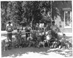 Cabell School Playground Pet parade, Huntington,WVa, ca. 1951