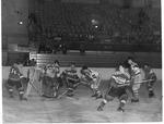 Ice hockey match, Memorial Field House, ca.1950's
