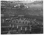 Huntington High School band, Memorial Field House, ca.1950's