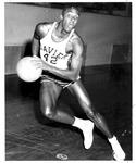 Xavier University star basketball player, Corrny Freeman, Dec 1957
