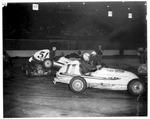 Midget car racing at Memorial Field House, Huntington,WVa, ca. 1950's