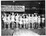 Cabell County School winners of beauty contest, Memorial Field House, ca. 1951