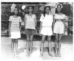 Hat Show contest winners at Barnett School playground, Huntington, ca.1951