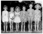 Young swimmers, Guyan Fire Station, Huntington,WVa, ca. 1951