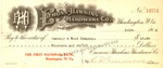 Bank check from Emmons-Hawkins Hardware Co. to January & Wood Co., Mar. 19, 1912, col.