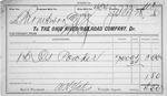 Freight waybill for the Ohio River Railroad Co., Huntington, WVa., July 28, 1886, b&w