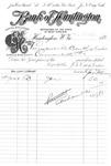 Inter-bank transaction, Bank of Huntington, Huntington,WVa, July 13, 1892, b&w.