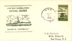 Envelope cancellation for placing the USS Huntington in mothballs, May 20, 1949, col.
