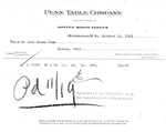 Invoice on Penn Table Co., letterhead for dining room tables, Oct. 16, 1923, b&w