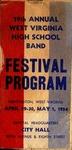 Program for 19th Annual WVa High School Band Festival, April 30-May 1, 1954, col.