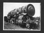 C&O RR Mikado engine No. 820, after raising from Guyandotte River, June, 1913