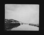 Big Sandy River, looking upstream from C&O RR bridge, 1906