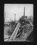 Tie hoist, Camden Interstate Rwy on left, 1906