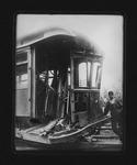 Camden Interstate Rwy car #101, Huntington, April wreck, 1906