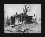 Shanty beside entrance to Home of the Incurables, Huntington, W.Va., 1906