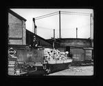 Car #200 Camden Interstate Rwy loading ties, Huntington, W.Va., 1906